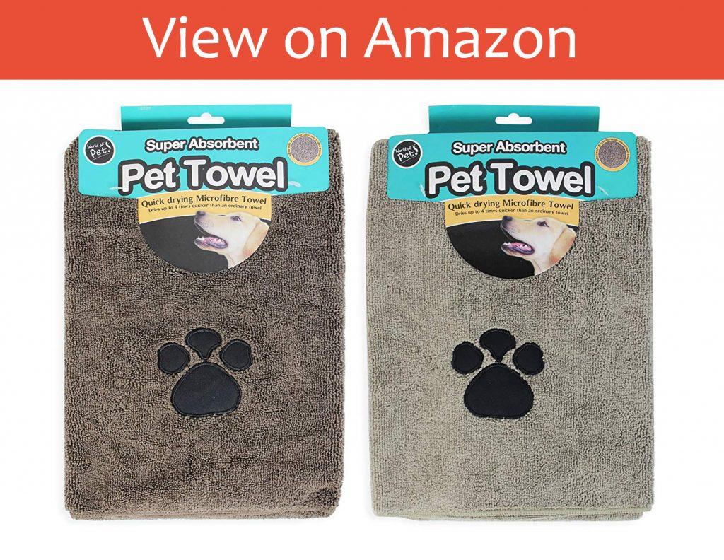 The Super Absorbent Microfiber Dog Towel
