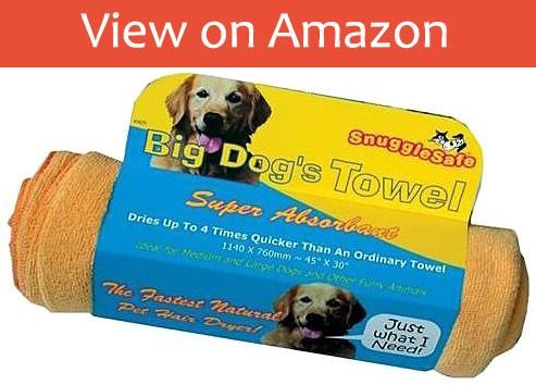 The SnuggleSafe Micro Fibre Dog Towel