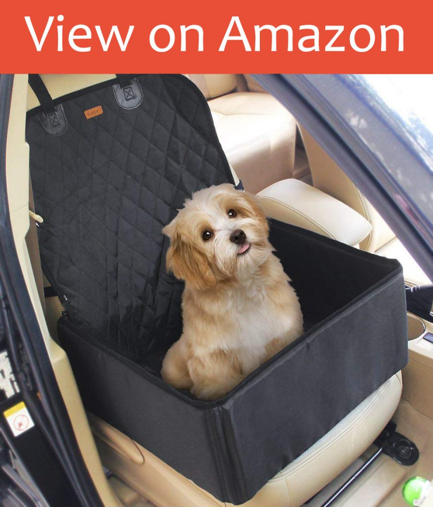 2 in 1 Pet Dog Car Waterproof Single Front Seat Mat Booster Seat Pet