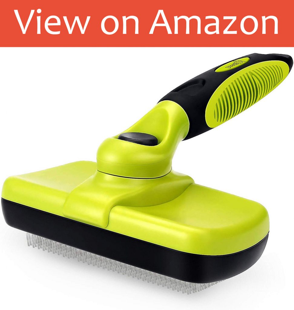 PECUTE Slicker Self cleaning Combing Brush
