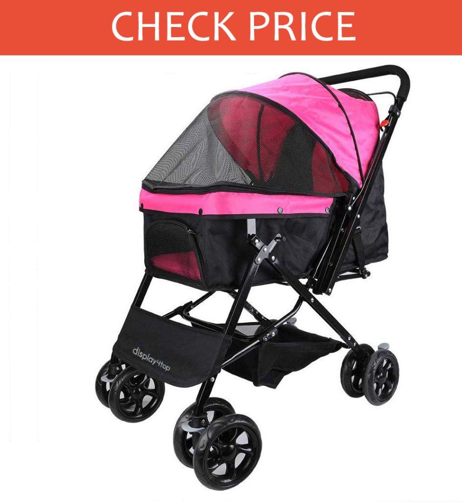 Display4Top Pink Pet Travel Stroller
