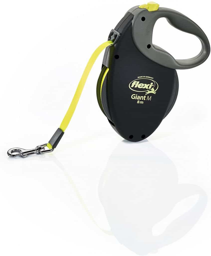 Flexi Giant retractable lead, M Tape 8 m neon yellow
