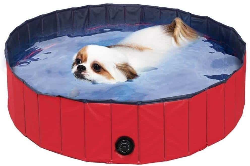 FEMOR Largest Foldable Pet Dogs Cats Paddling Pool