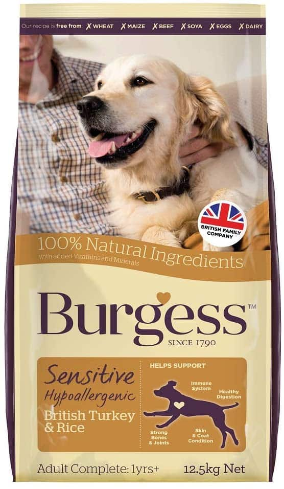Burgess Sensitive Hypoallergenic Dog Food