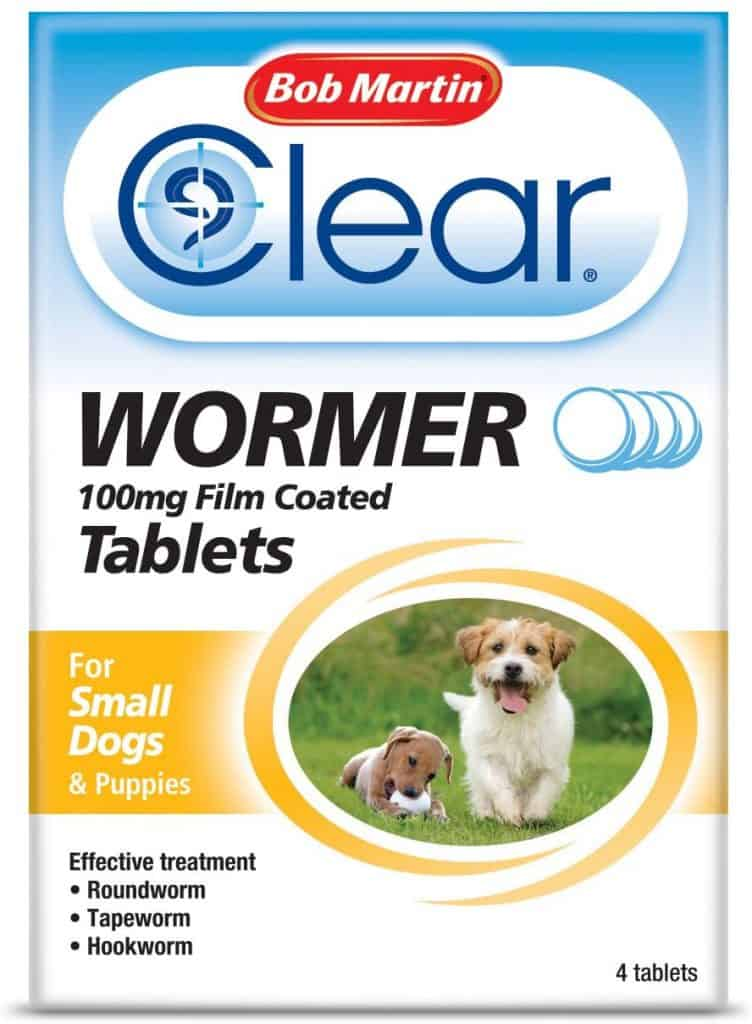 Bob Martin Clear Wormer Tablets for Dogs, Small Dogs and Puppies