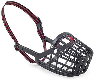 Ancol Plastic Muzzle Black/red
