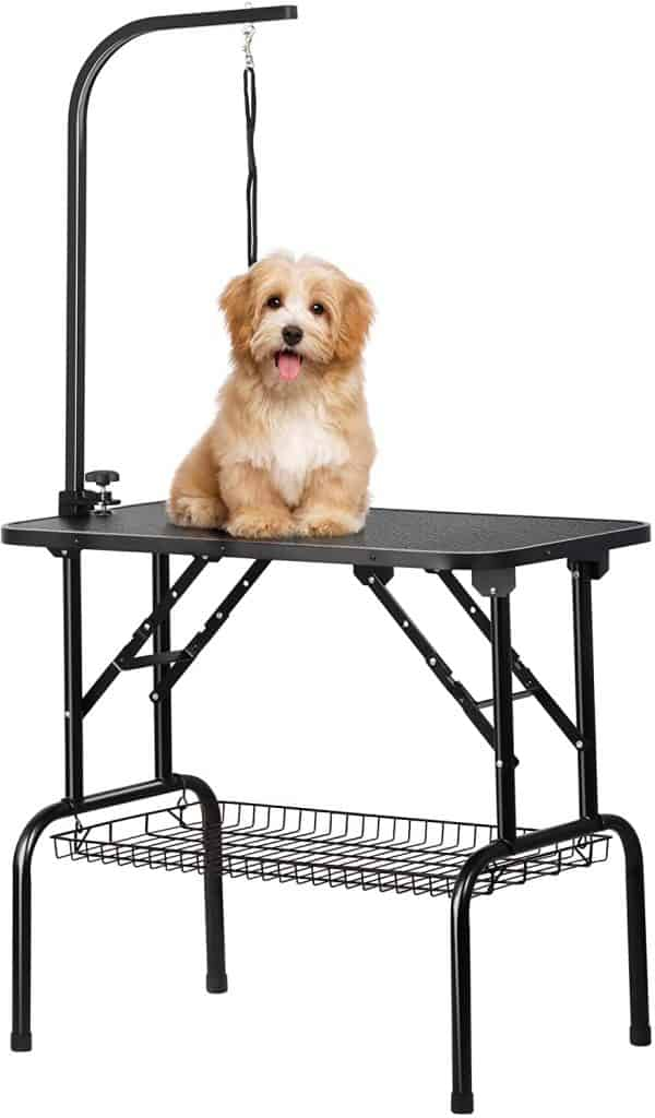 Yaheetech Adjustable Foldable Dog Grooming Table