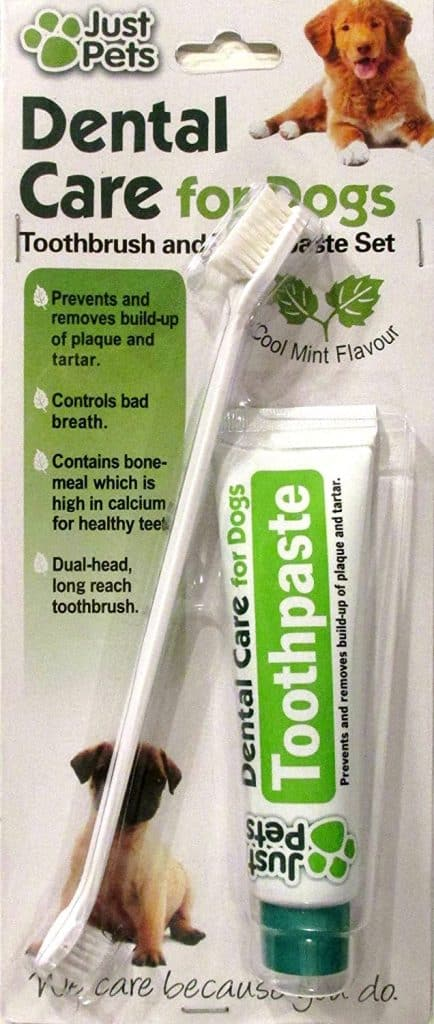 Dental Care For Dogs Toothpaste 100g and Toothbrush