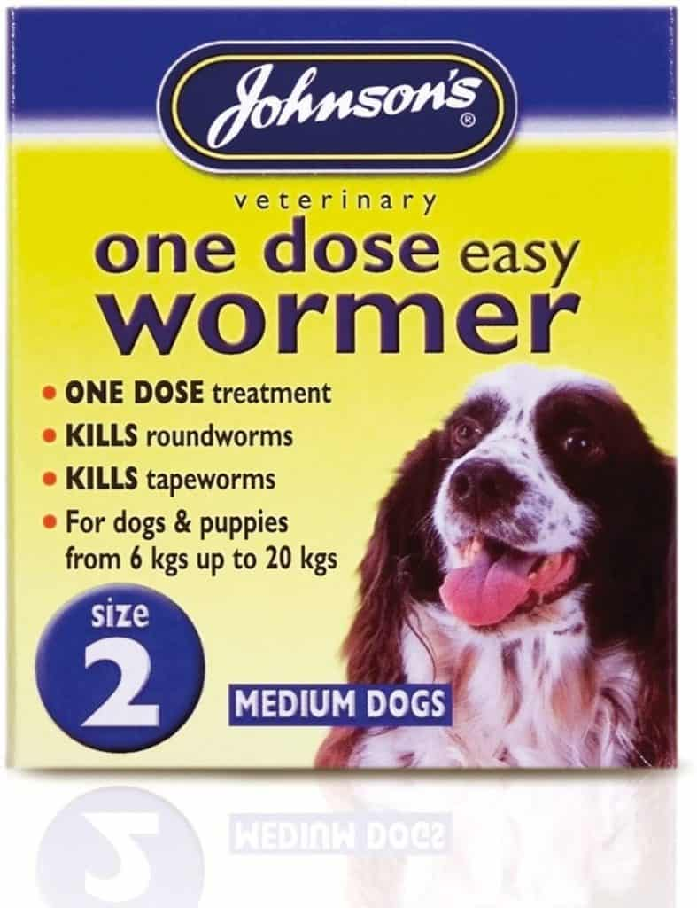 Johnsons One Dose Easy Wormer for Medium Dogs Size 2 30g