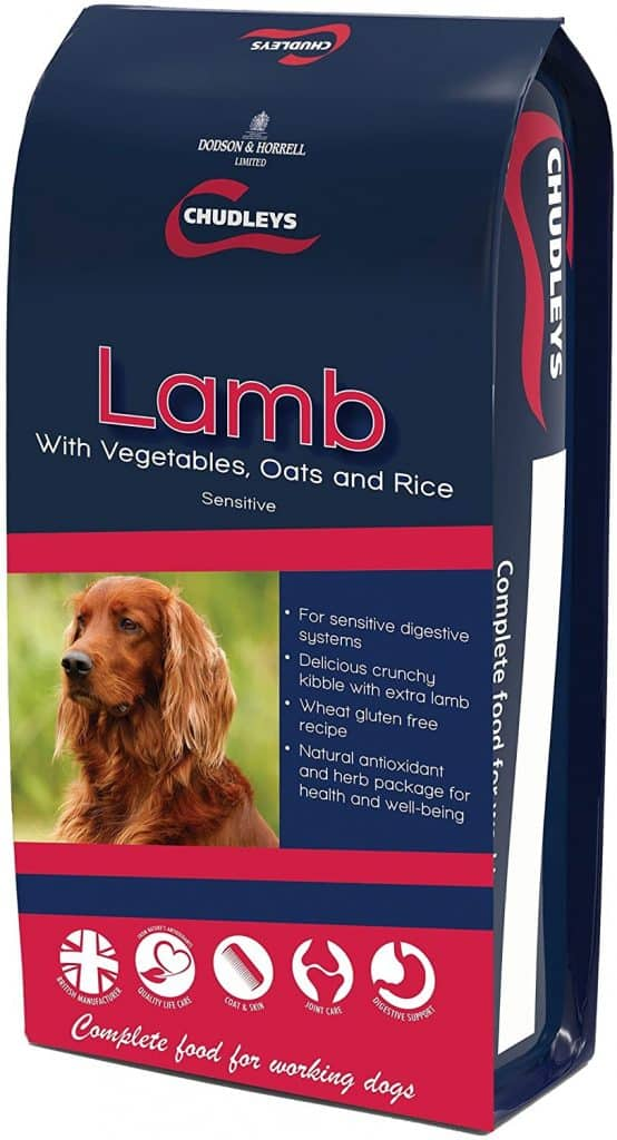 Chudley's Lamb Sensitive Hypoallergenic Dog Food with Vegetables, Oats and Rice