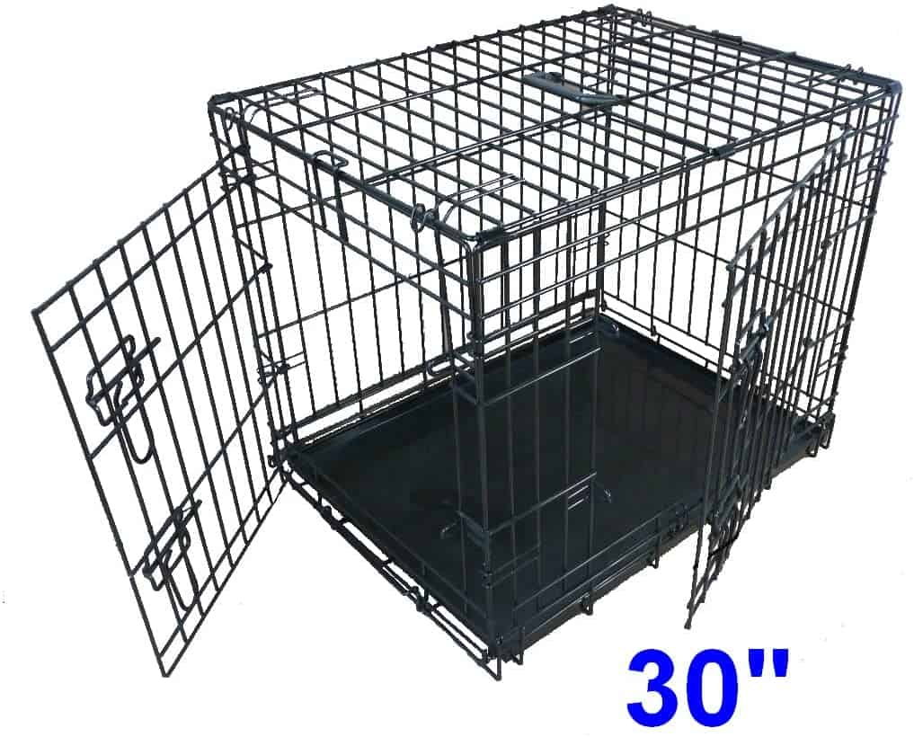 Ellie-Bo Dog Puppy Cage Folding 2 Door Crate 30 Inch
