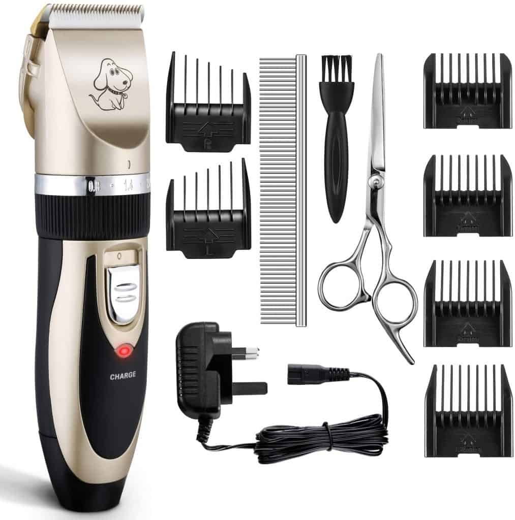 OMorc Low Noise Pet Clippers Rechargeable Cordless Dog Trimmer
