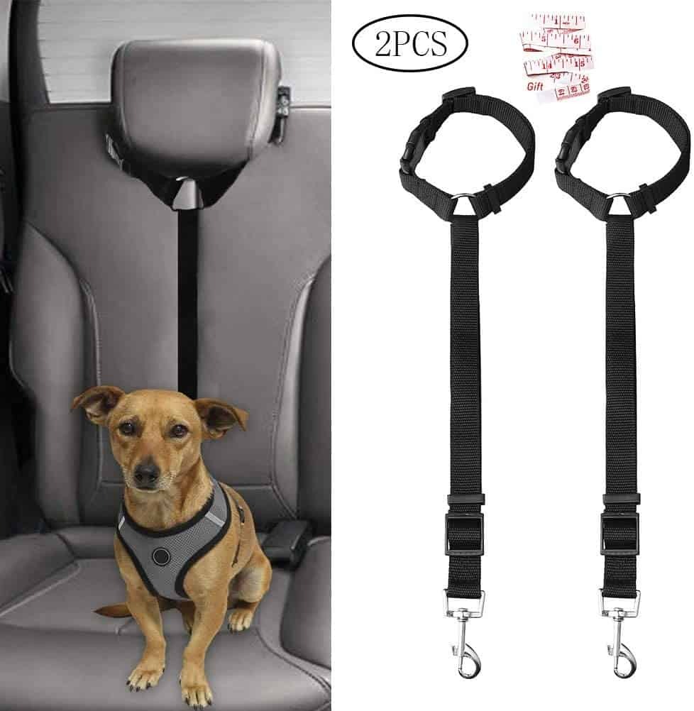 Jinkesi 2Pcs Dog Seat Belt & Harness