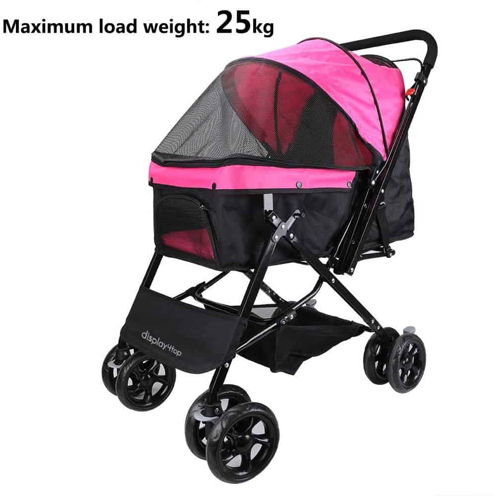 Display4Top Pink Pet Travel Stroller
