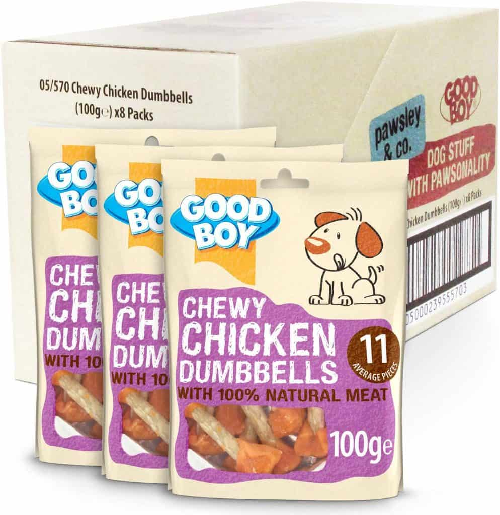 Good Boy Chewy Chicken Dumbells
