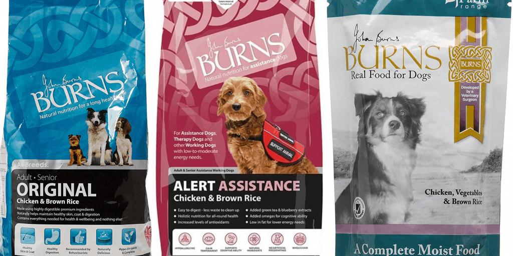 burns dog food review