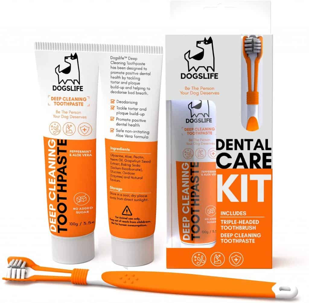 It's a Dog's Life Toothbrush and Toothpaste